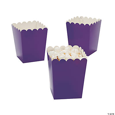 Mini Purple Popcorn Boxes