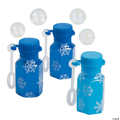 Mini Snowflake Bubble Bottles
