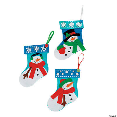 Mini Snowman Christmas Stocking Craft Kit