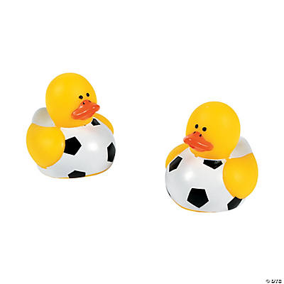 Mini Soccer Rubber Duckies