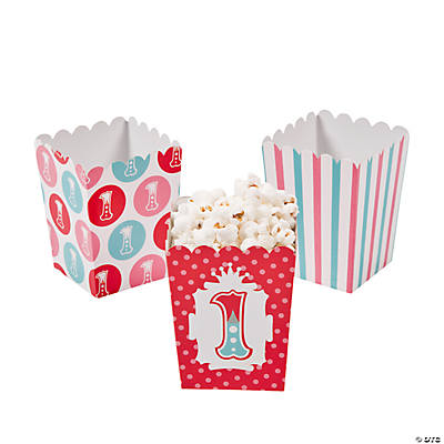 Mini 1st Birthday Circus Popcorn Boxes
