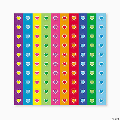 800 Mini Stickers - Hearts