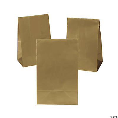Mini Treat Bags with Tape Closure - Gold