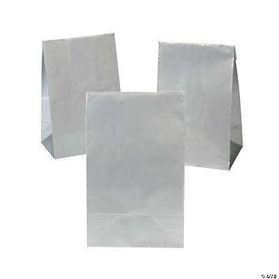 Mini Treat Bags with Tape Closure - Silver
