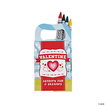 Mini Valentine Activity Books with Crayons