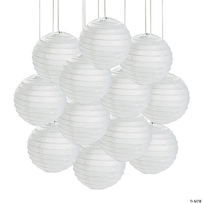 Mini White Paper Lanterns - 4 1/2""