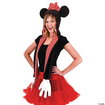 Minnie Mouse Hooded Scarf