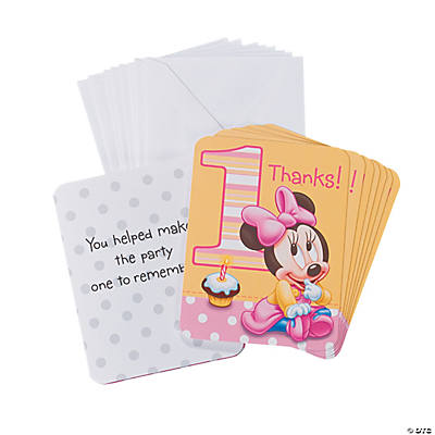 Minnie's 1st Birthday Thank You Notes