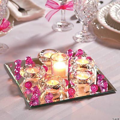 mirror wedding centerpiece idea