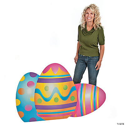 Mixed Print Easter Eggs Cardboard Stand-Up