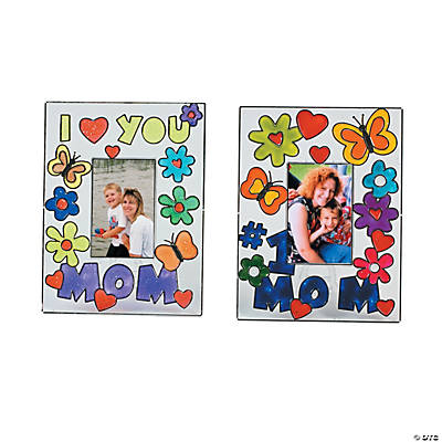 """Mom"" Suncatcher Picture Frames"