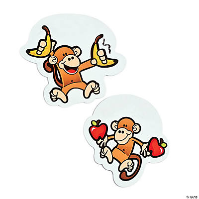 12 Monkey Marketplace Dry Erase Magnets