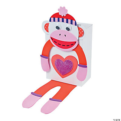 Monkey Valentine Card Holder Craft Kit - Makes 6