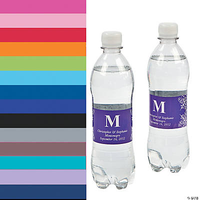 Monogrammed Water Bottle Labels