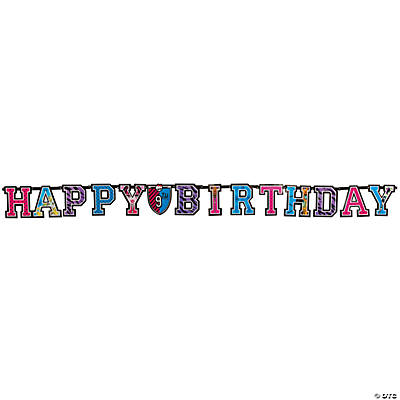 "Monster High™ Add-An-Age ""Happy Birthday"" Banner"