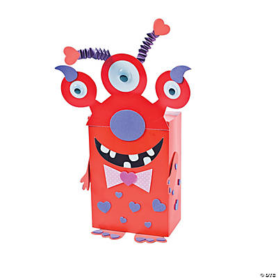Valentine Card Holder Craft Kit – Monster Valentine Cards