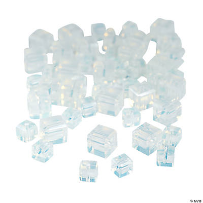 Moonstone Cube Cut Crystal Beads - 4mm-6mm