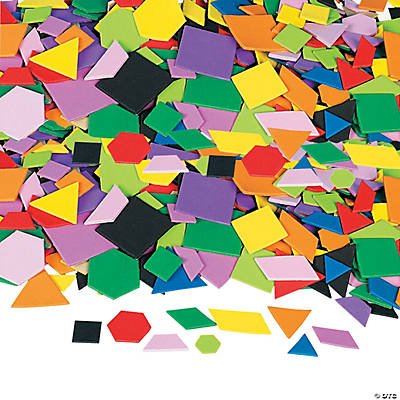 Mosaic Geometric Self-Adhesive Foam Shapes