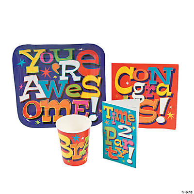 Motivational Tableware and Invites