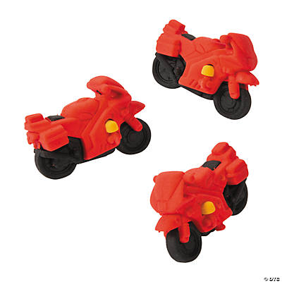 Motorcycle Erasers