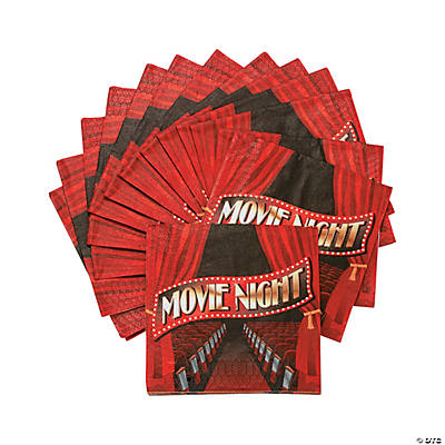 Movie Night Beverage Napkins