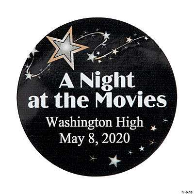 Movie Night Personalized Stickers