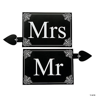 """Mr."" & ""Mrs."" Prop Signs"