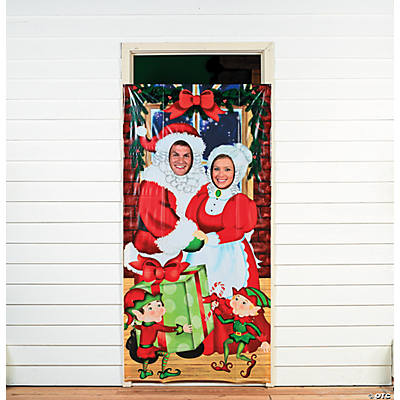 Mr. & Mrs. Santa Photo Door Banner