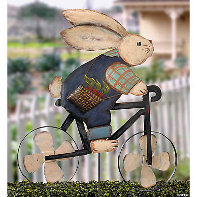 Mr. Cottontail Cycling Yard Stake