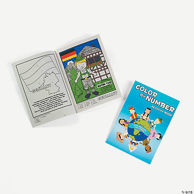 Multicultural Color By Number Activity Books
