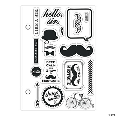 Mustache and monocle stamps oriental trading discontinued for Monocle promo code