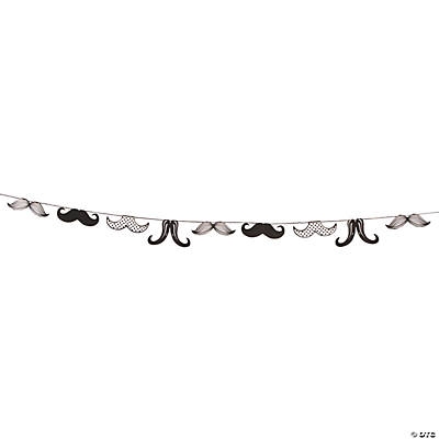 Mustache Party Garland