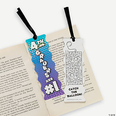 My Grade Is #1 Bookmarks with Activity - 4th Grader