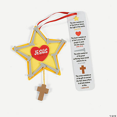 Nail Star Ornament with Poem Craft Kit