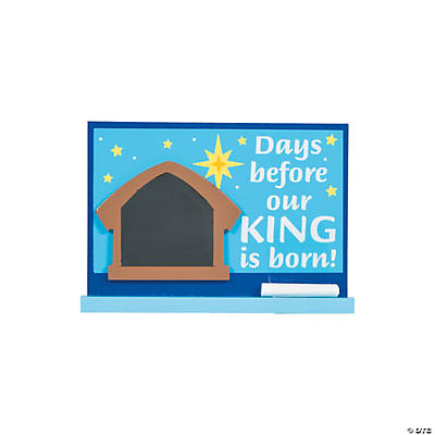 Nativity Chalkboard Countdown Sign