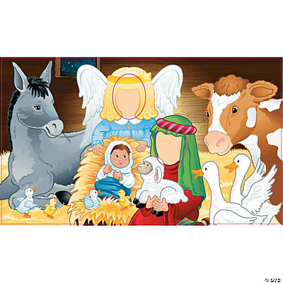 Nativity Cutout Photo Stand