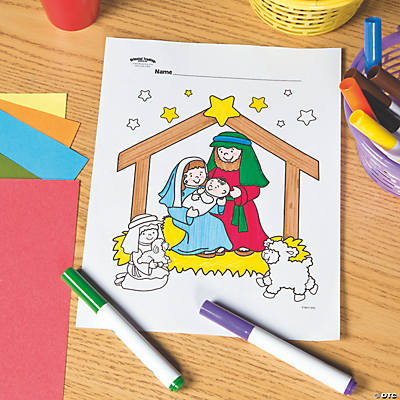 Nativity Free Printable Coloring Page