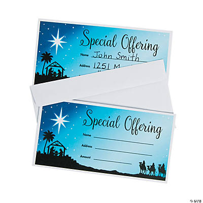 Nativity Offering Envelopes
