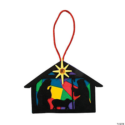 Nativity Silhouette Christmas Ornament Craft Kit
