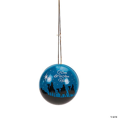 Nativity Silhouette Christmas Ornament Favor Containers