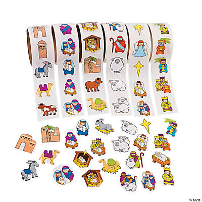 Nativity Stickers on A Roll