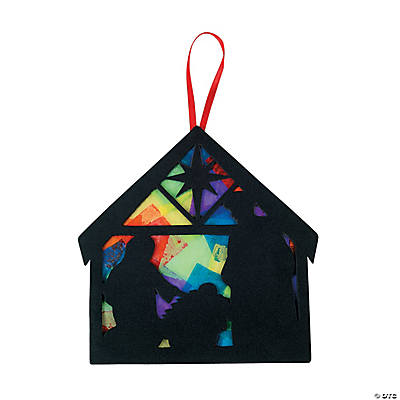 Nativity Tissue Paper Sign Craft Kit
