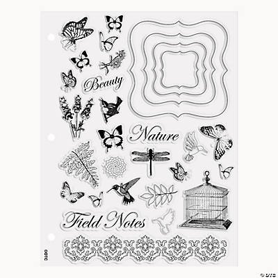 Natural Butterfly Clear Stamps