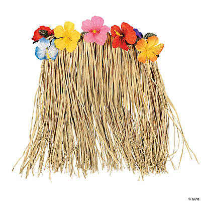 Natural Hibiscus Plus-Size Hula Skirt