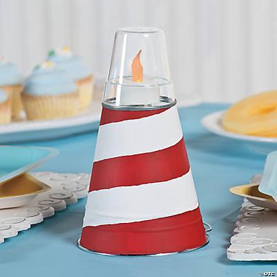 Nautical Baby Shower Lighthouse Centerpiece Idea