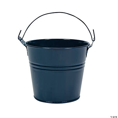 Navy Blue Tinplate Pails with Handles