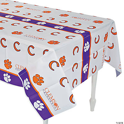 NCAA™ Clemson Tigers Plastic Tablecloth