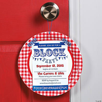 block party invitation idea, Party invitations