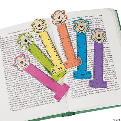 Neon Monkey Ruler Bookmarks