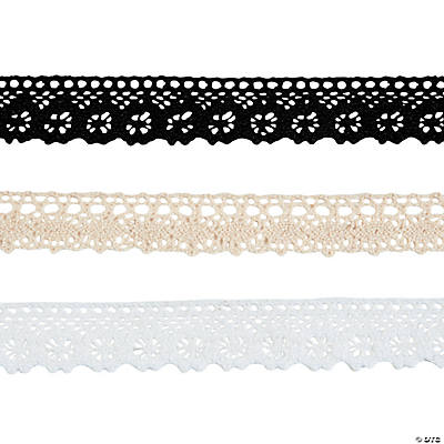 Neutral Lace Ribbon 3 Pack  Oriental Trading  Discontinued